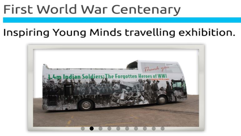 Themed London Bus Remembering WW1
