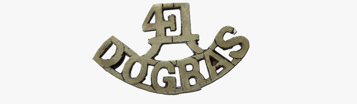 Dogra badge for world war 1